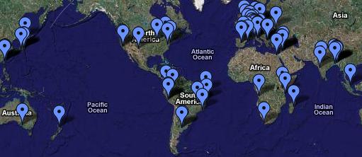Google Map con tutti gli autori ed editor di GVO