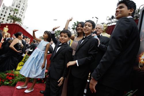 Il cast di Slumdog Millionaire