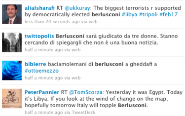 tweets sulla berlusconi connection
