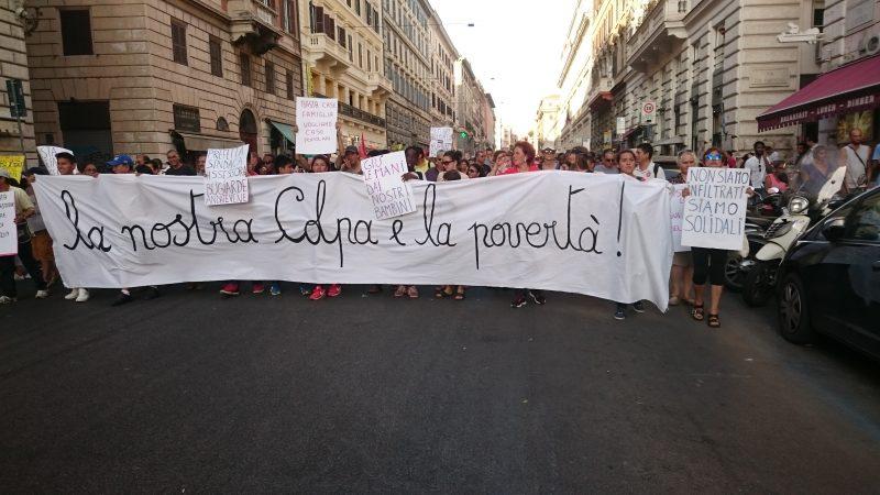 Manifestazione a Roma in solidarietà con i rifugiati a il 26 agosto. Foto dell'autore